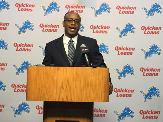 Lions general manager Sheldon White