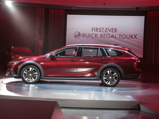 The 2018 Buick Regal TourX is revealed on Tuesday April
