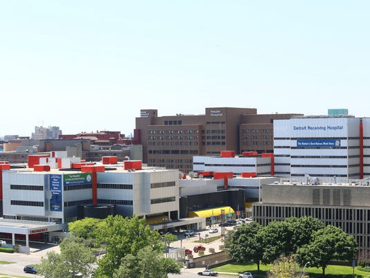 Detroit Receiving hospital, Hutzel Wemon's Hospital, Wayne State School of Medicine, Harper Hospital