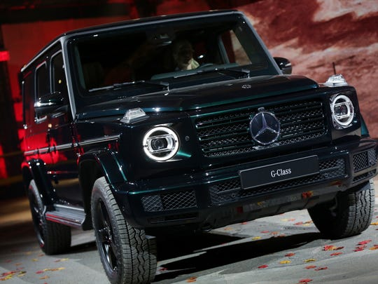 The new Mercedes-Benz G-Class is introduced during the North American International Auto Show in Detroit on Jan. 14, 2018.