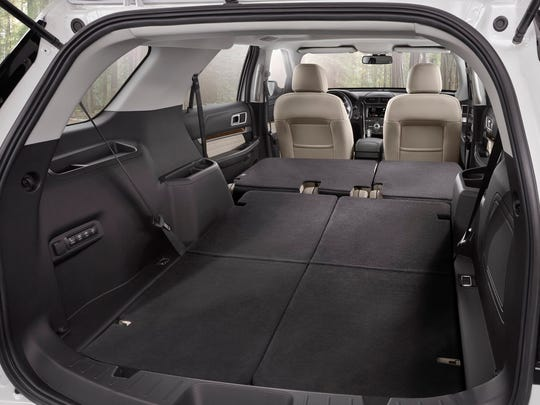 New 2016 Ford Explorer with class-exclusive PowerFold third-row seats and 80.7 cu.-ft. max cargo volume
