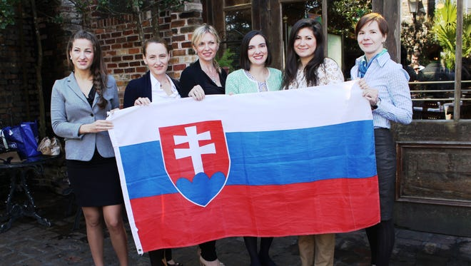 A delegation of up and coming women business leaders from Slovakia met recently with citizens of Pensacola. Jena Melancon, third from right, executive director of the Gulf Coast Citizen Diplomacy Council, organizes events that bring citizens of the world to Pensacola.