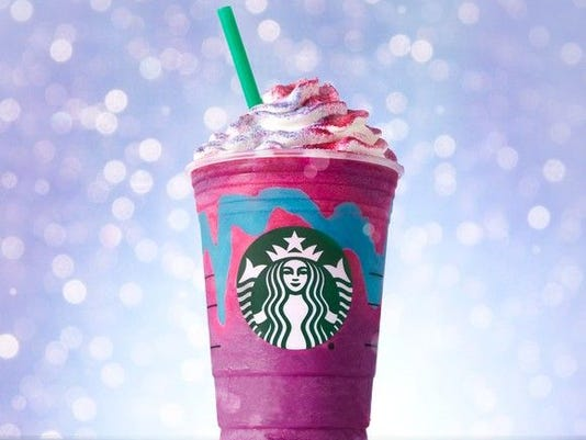 Unicorn Frappuccino blended beverage