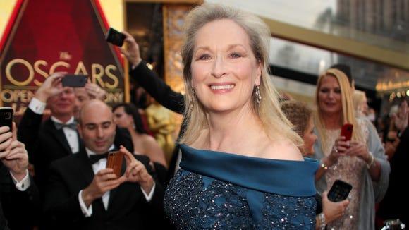 Meryl Streep at the Oscars on Feb. 26, 2017.