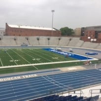 Updated: State track resumes after Drake Stadium evacuated due to lightning