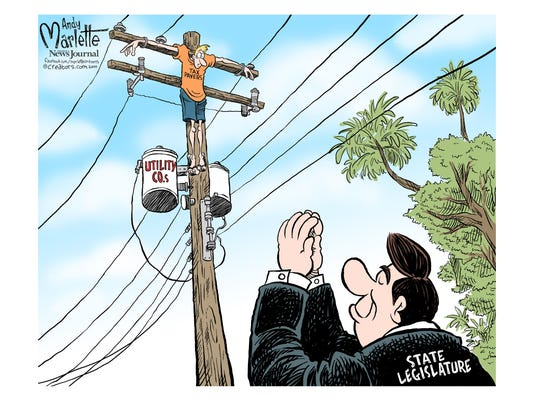 Utilities Cartoon by Andy Marlette