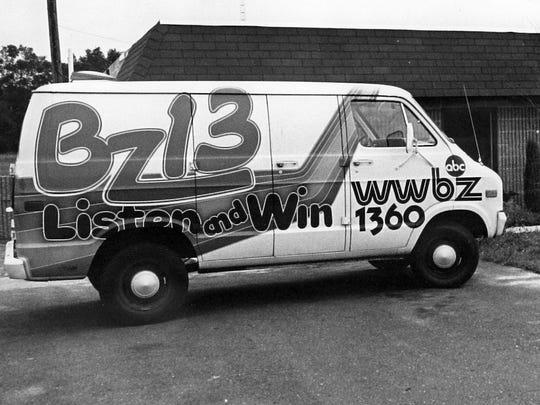 WWBZ radio station van in Vineland.