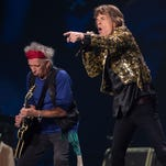 Keith Richards and Mick Jagger of the Rolling Stones perform in 2013 at the MGM Grand Garden Arena in Las Vegas.