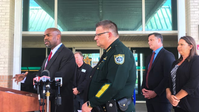 Brevard County Sheriff Wayne Ivey and school superintendent Desmond Blackburn, along with members of the school board, discussed steps to improve school safety.