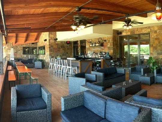 The Trackside terrace lounge at Rails in Towaco.