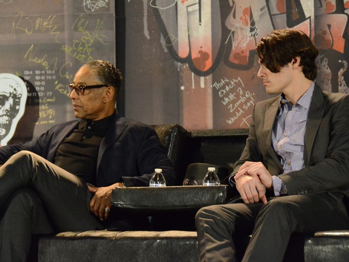 "Giancarlo Esposito and RJ Mitte from ""Breaking Bad"""