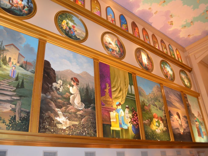 Precious Moments Chapel features 84 hand-painted murals