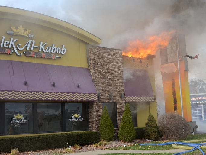 A multi-alarm fire at the Malek Al-Kabob restaurant