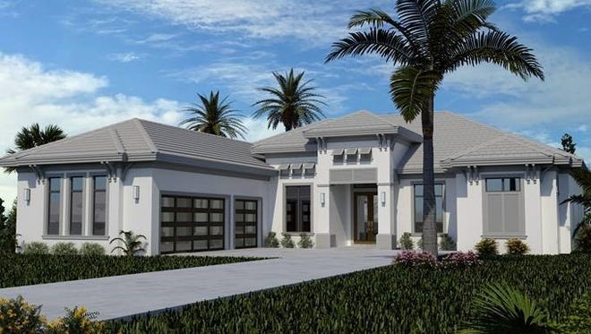 A new custom home by Frank R Jenkins is underway in Palmira Golf & Country Club.