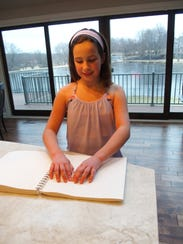 Brooke, a 10-year-old Kansas girl who is blind, says,