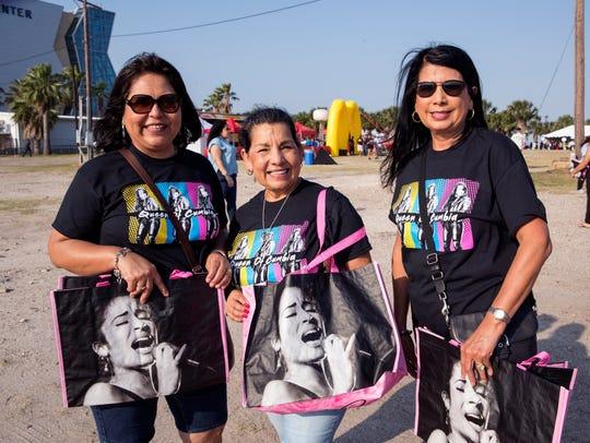 Mandy Saldivar (from left), of San Antonio, Lolly Galvan