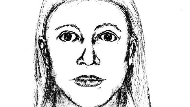 The Marion County Sheriff's Office worked with a Delaware County expert on this sketch of a woman Shawn Grate reportedly confessed to killing.