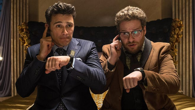 James Franco (left) and Seth Rogen in a scene from the motion picture 'The Interview.'