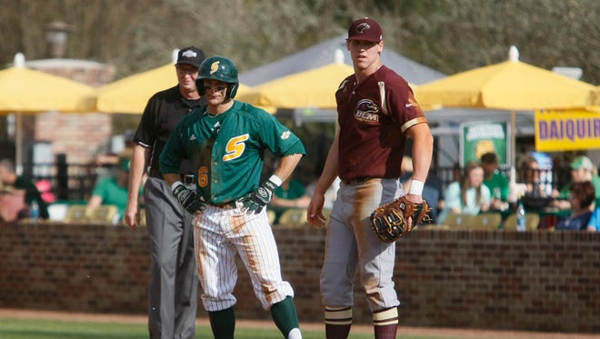 ULM first baseman Danny Springer drove in seven runs against McNeese State on Wednesday.