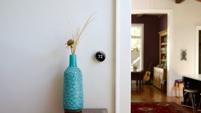 Meet the 3rd gen Nest Learning Thermostat. It has a big, sharp display. It programs itself. And it saves energy. That's the most beautiful part.