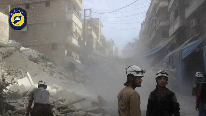 Russian and Syrian warplanes halted their airstrikes on Syria's besieged city of Aleppo on Tuesday in preparation for a temporary pause in the military push that Moscow has announced for later in the week.