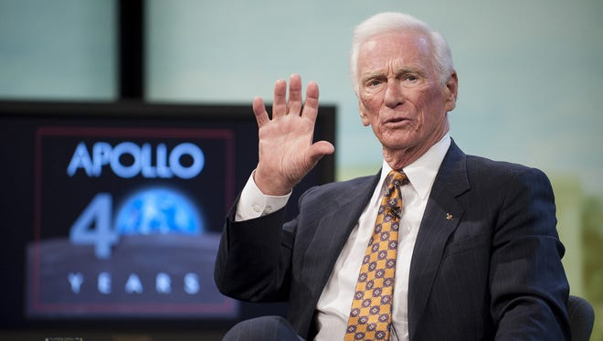 """Former astronaut Gene Cernan, the last person to walk on the moon who returned to Earth with a message of """"peace and hope for all mankind,"""" died on Monday in Texas following ongoing heath issues, his family said. He was 82."""