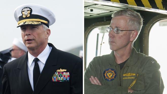 Rear Adm. Craig S. Faller will become Mattis' top uniformed adviser, said Navy Capt. Jeff Davis, a Pentagon spokesman. Retired Rear Adm. Kevin M. Sweeney will become Mattis' chief of staff.