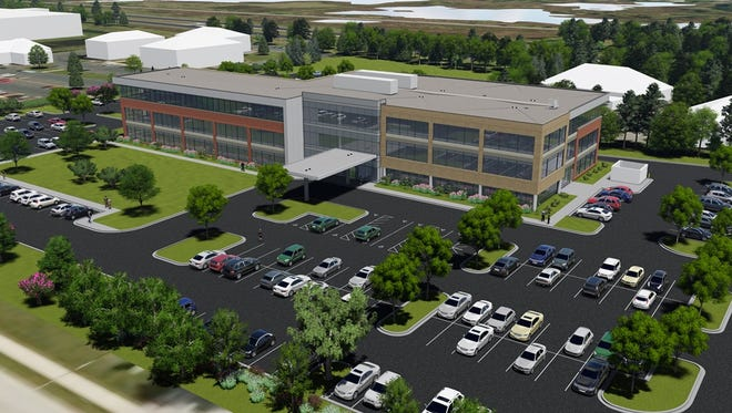 A rendering of the clinic that Froedtert Health and the Medical College of Wisconsin plan to open in Mequon in October.
