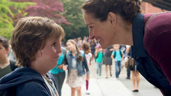 "Jacob Tremblay and Julia Roberts star in ""Wonder."""