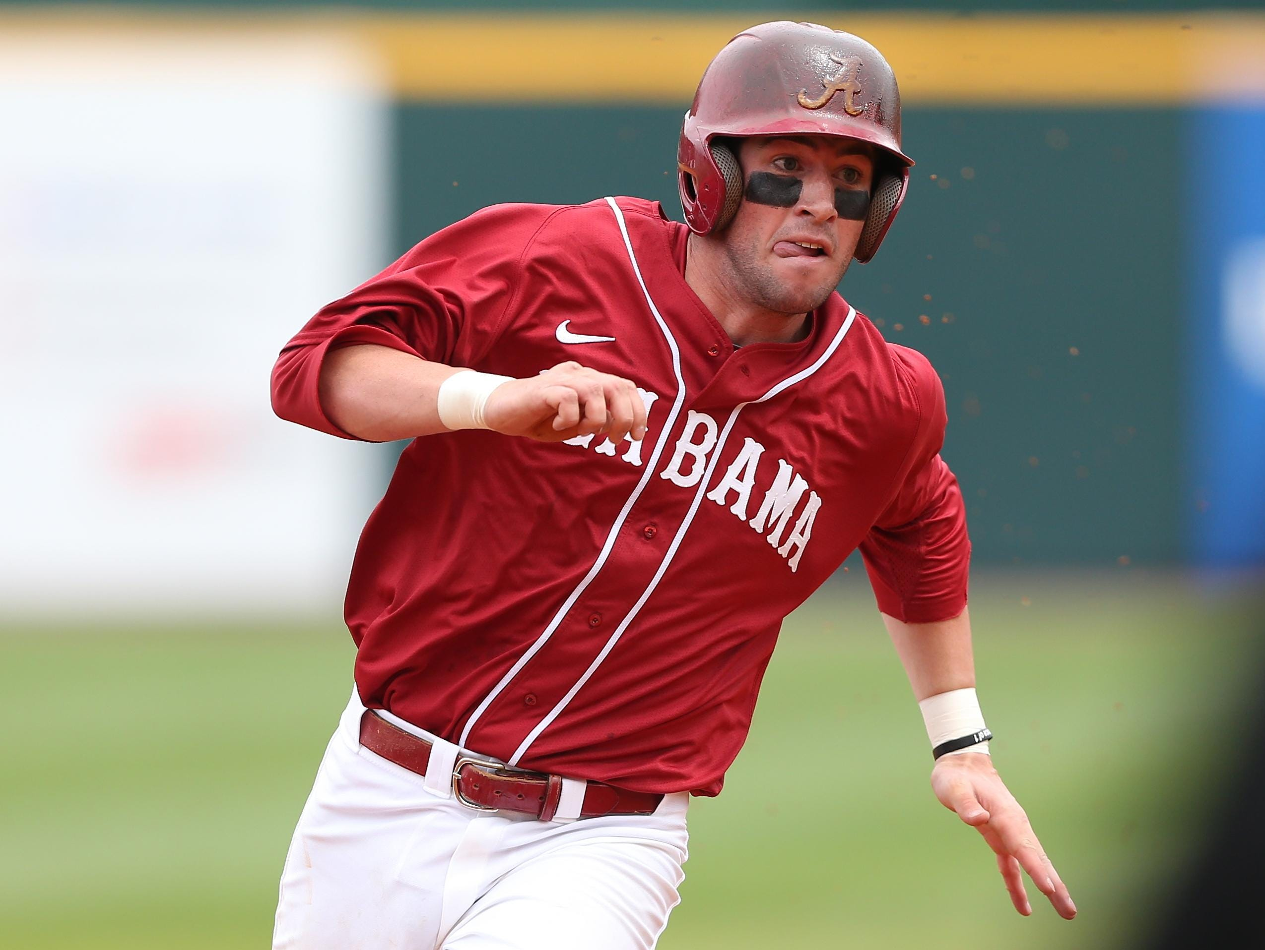 Alabama shortstop Mikey White was drafted by the Oakland A's in the second round of Monday's baseball draft.