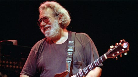 In this Nov. 1, 1992 file photo, Grateful Dead lead singer Jerry Garcia performs at the Oakland, Calif., Coliseum.