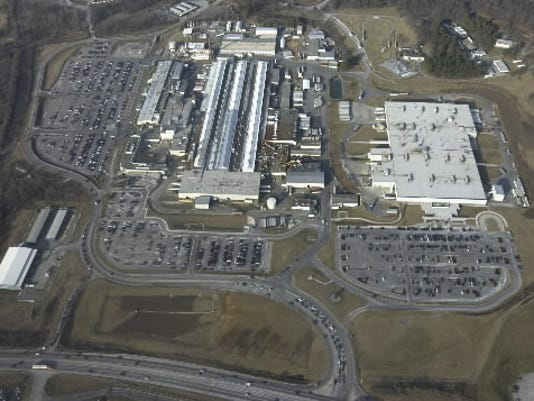 A 2009 aerial photo of Harley-Davidson's Springettsbury Township operations shows the campus pre-demolition. The large building at right, Harley's Softail plant, remains. More than 40 of the smaller buildings at left -- along with a large building that once housed the company's Trike and Touring motorcycle manfuacturing -- were demolished carefully to prevent environmental harm.