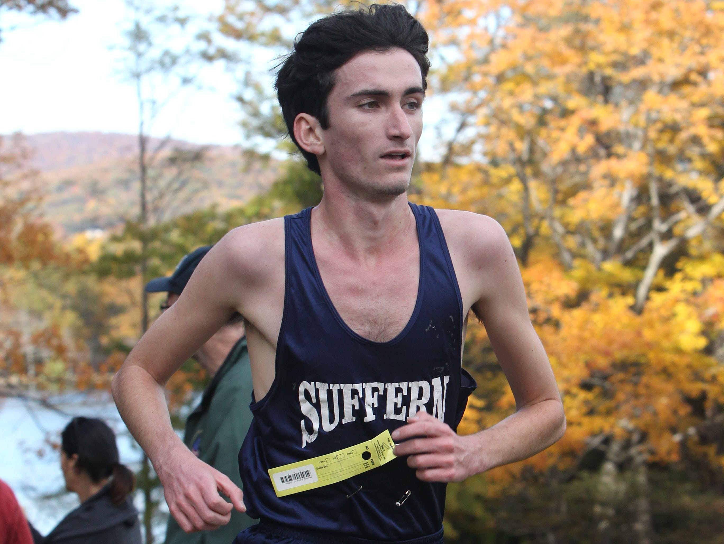 Suffern's Patrick Hennelly won the Rockland County Cross Country Championship at Bear Mountain Oct. 29, 2015.