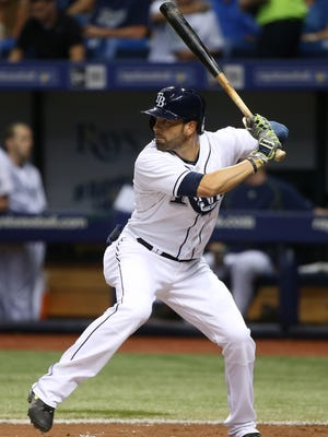 David DeJesus was batting .256 with the Rays.