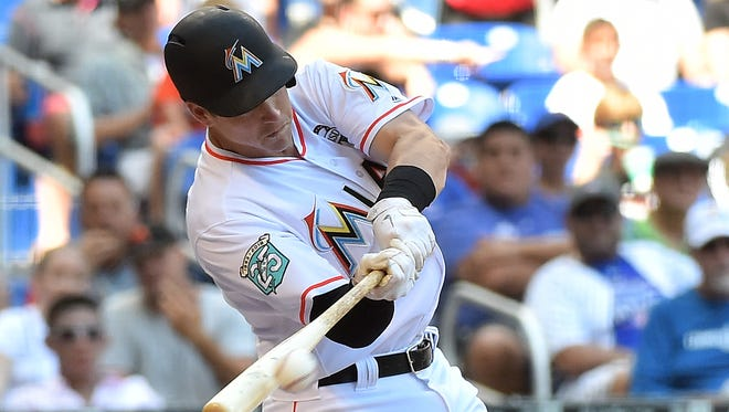 Marlins third baseman Brian Anderson is off to a solid start with a .321 average, a homer and six RBI in his first seven games.
