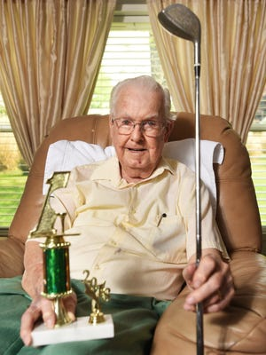 Ben Bender, 93, capped his 66-year golf career with a hole-in-one at Green Valley Golf Club last month.