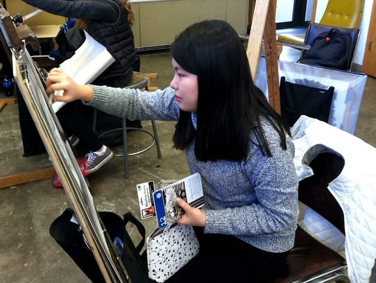 Thu Vo, from Vietnam, is earning her associate's degree