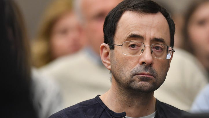 There was little reaction of the face of Larry Nassar