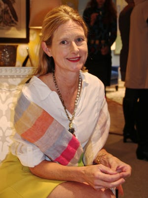 Artist-turned-designer Dana Gibson at her showroom in High Point, N.C.