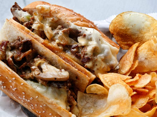 The Milly Philly, beef, cheese and grilled onions on