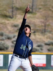 Damonte pitcher Jadon Bercovich spots a pop fly during