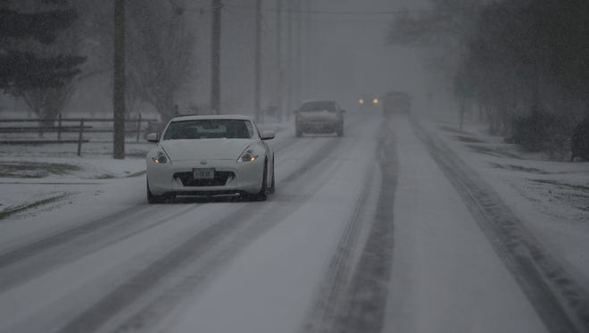 Morning snow is turning the morning commute into a headache for some Delmarva drivers.