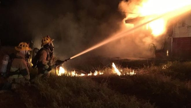 A Friday morning fire destroyed a home in the 600 block of Rio Vista Drive in Fort Pierce but caused no injuries, according to the St. Lucie County Fire District.