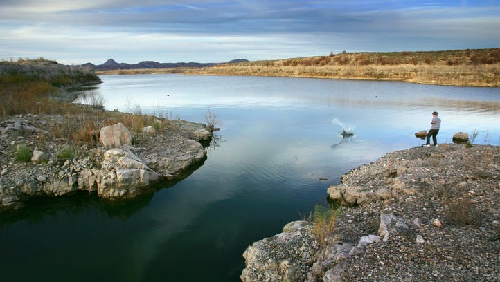 Alamo Lake is a fishing hot spot, and the adjacent