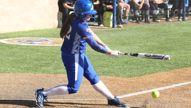 Angelo State University catcher Taegan Kirk is one of just two seniors that the Rambelles will lose to graduation this spring. The other senior is infielder Taylor Fogle.