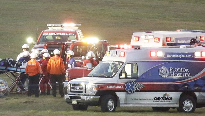 NASCAR will use a traveling safety team from American Medical Response to augment its at-track services.
