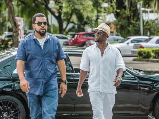 "Ice Cube and Kevin Hart in ""Ride Along 2."""