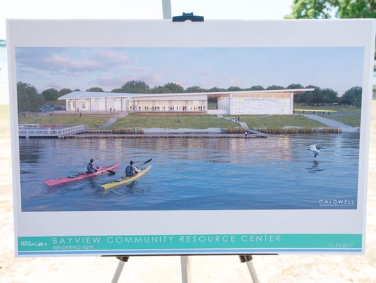 An artist rendering of the new Bayview Community Resource