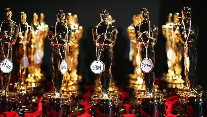 Oscar statuette on display backstage during the 2014 Oscars.