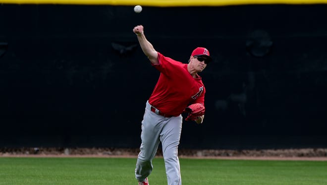 Garrett Richards figures to make his first start shortly after Opening Day.